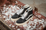 Vans Sk8 Hi Leather Winter Black (c мехом) фото 2