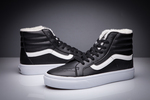Vans Sk8 Hi Leather Black non Zip (с мехом) фото 12