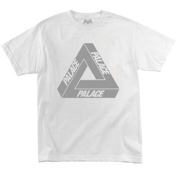 Футболка Palace White with Reflective Triangle