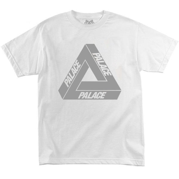 Футболка Palace White with Reflective Triangle