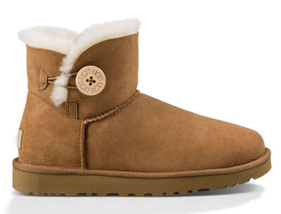 UGG Australia Mini Bailey Button Brown