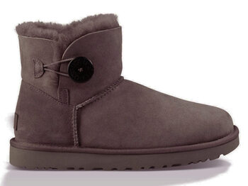 UGG Australia Mini Bailey Button Chocolate