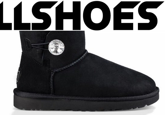 UGG Australia Mini Bailey Bling Button Black