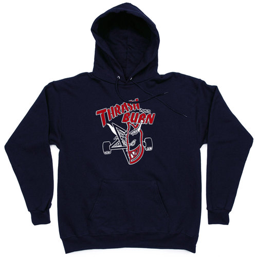 Толстовка Thash & Burn Dark Blue Hood