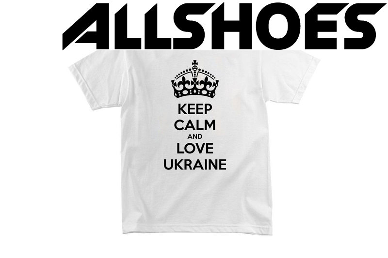 Футболка KEEP CALM and LOVE UKRAINE White