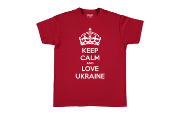 Футболка KEEP CALM and LOVE UKRAINE Red