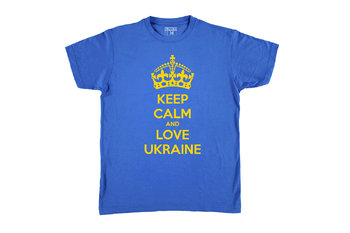 Футболка KEEP CALM and LOVE UKRAINE Blue