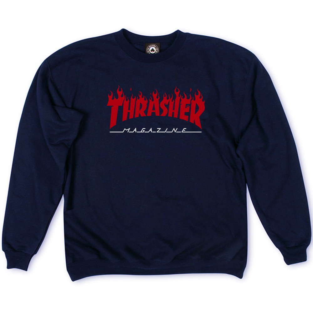 Толстовка Thrasher Fire Magazine Red Dark Blue