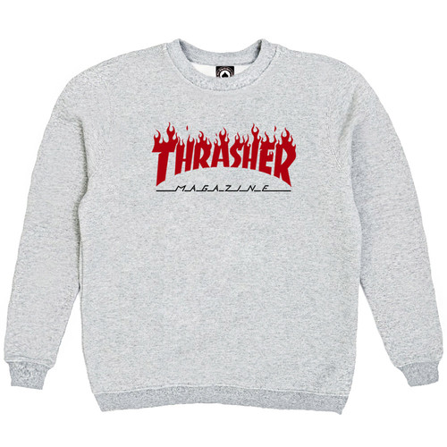 Толстовка Thrasher Fire Magazine Red Gray