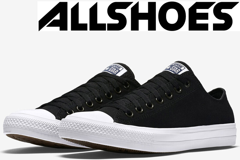 Converse Chuck Taylor All Star II Low Black/White/Navy (150149С)