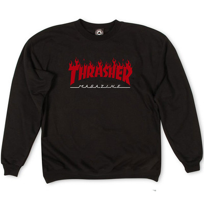Толстовка Thrasher Fire Magazine Red