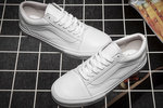 Vans Old Skool Leather Monochrome White фото 5