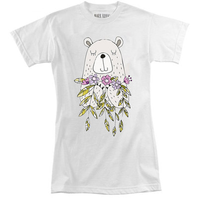 Футболка Bear with Flowers