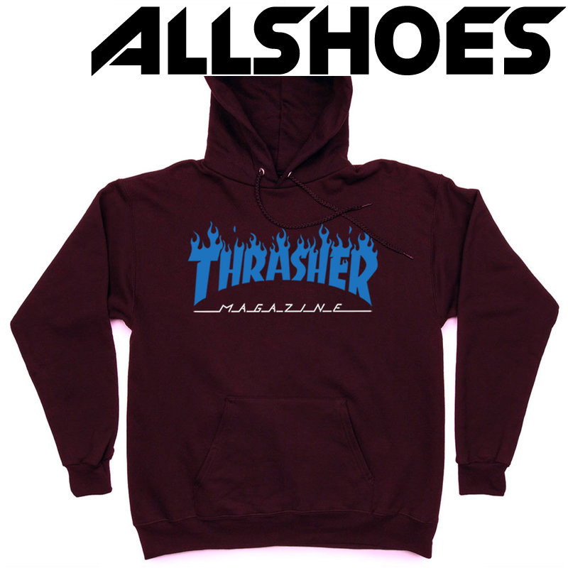 Толстовка Thrasher Fire Magazine Blue Vinous Hood