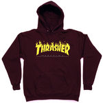 Толстовка Thrasher Fire Magazine Yellow Vinous Hood фото 2