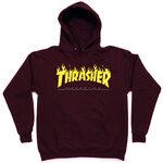Толстовка Thrasher Fire Magazine Yellow Vinous Hood фото 2