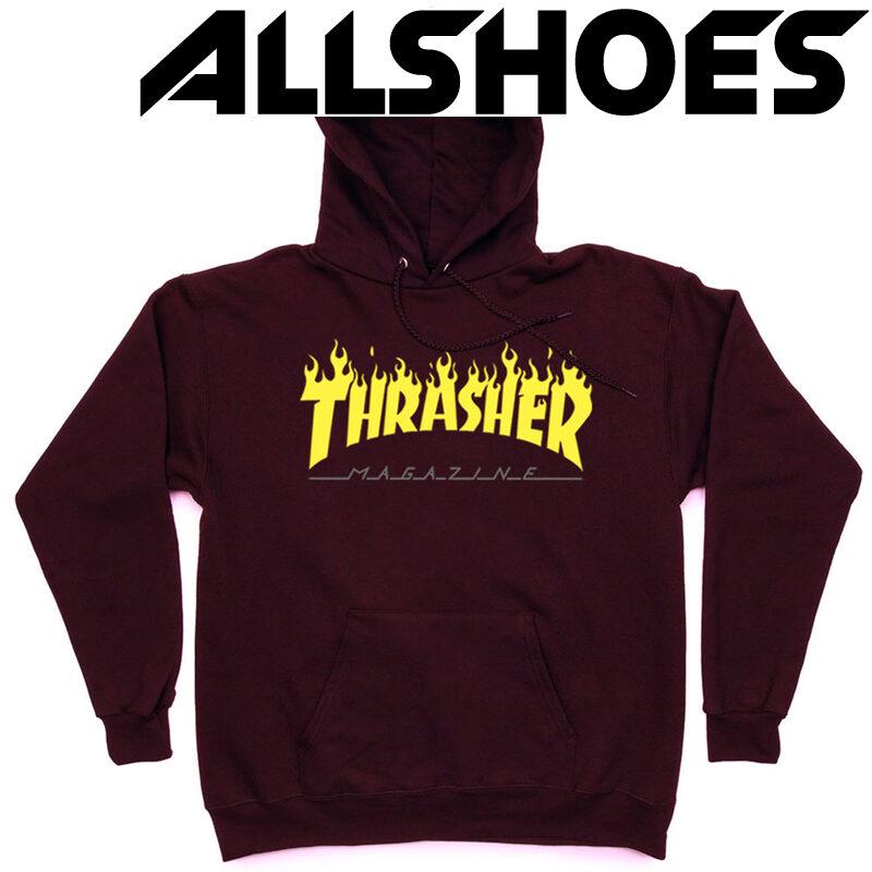 Толстовка Thrasher Fire Magazine Yellow Vinous Hood