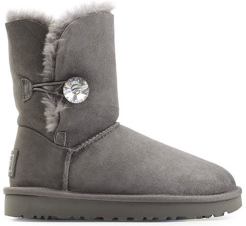 UGG Australia Bailey Button Bling Grey