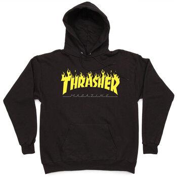 Толстовка Thrasher Fire Magazine Yellow Black Hood