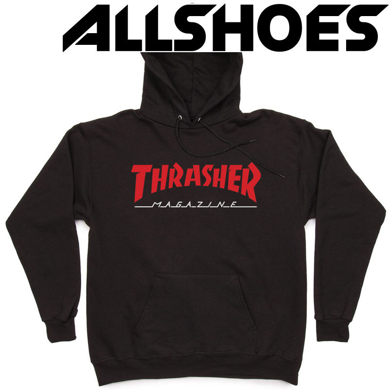 Толстовка Thrasher Magazine Red Black Hood