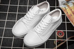 Vans Old Skool Leather Monochrome White фото 3