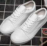 Vans Old Skool Leather Monochrome White фото 2