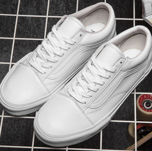 Vans Old Skool Leather Monochrome White