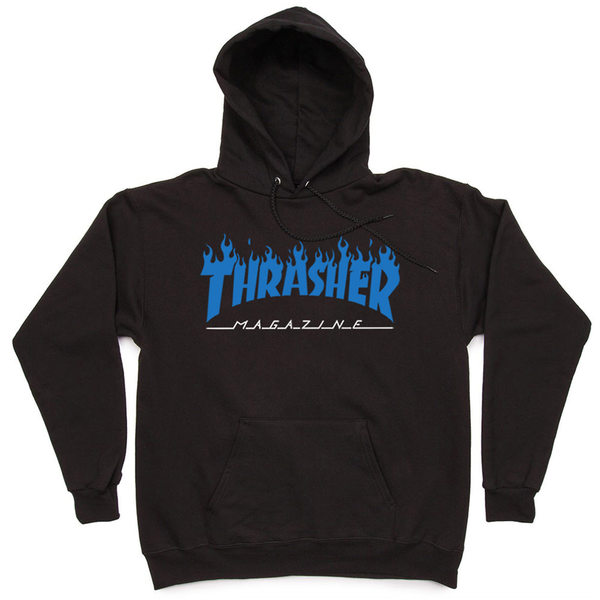 Толстовка Thrasher Fire Magazine Blue Black Hood