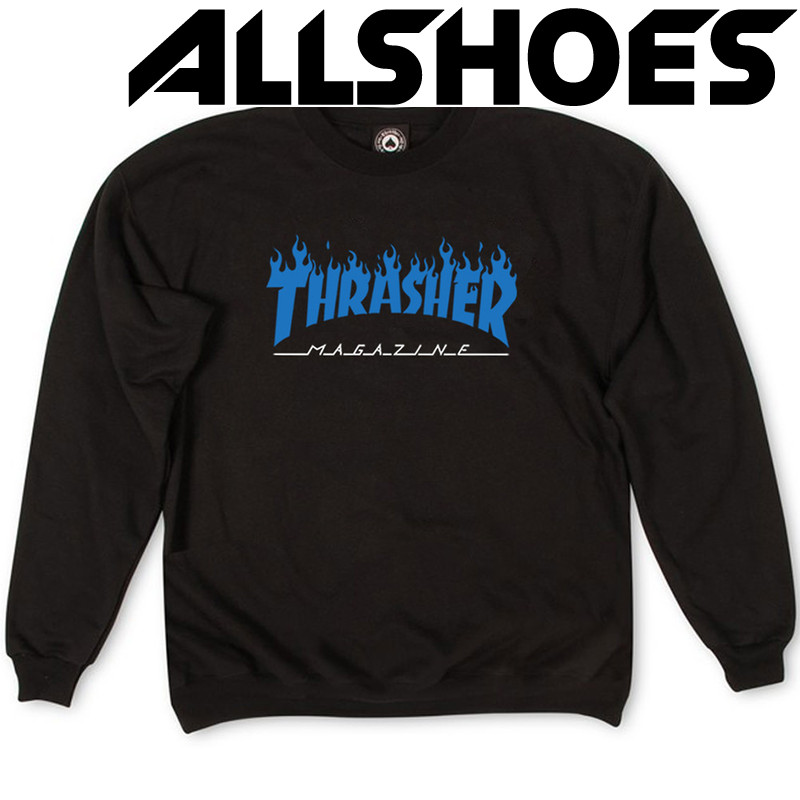 Толстовка Thrasher Fire Magazine Blue