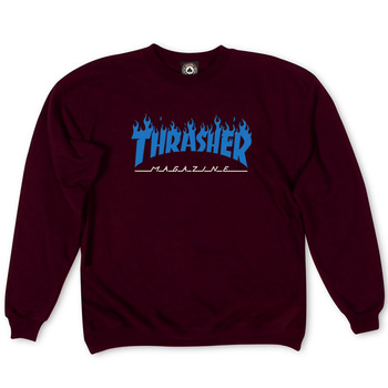 Толстовка Thrasher Fire Magazine Blue Vinous