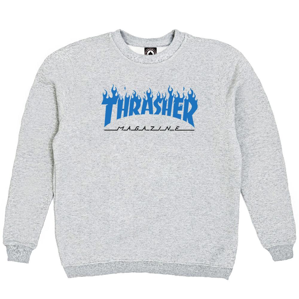 Толстовка Thrasher Fire Magazine Blue Gray