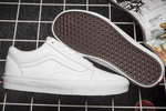 Vans Old Skool Leather Monochrome White фото 4
