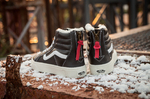 Vans Sk8 Hi Leather Winter Black (c мехом) фото 5