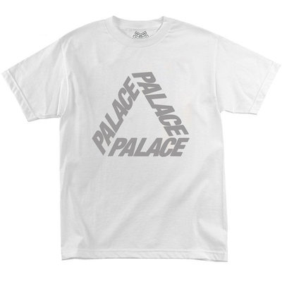 Футболка Palace Reflective Triangle White