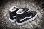 Vans Sk8 Hi Leather Black non Zip (с мехом) фото 6