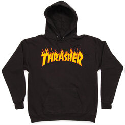 Распродажа Толстовка Thrasher Black Fire Hood
