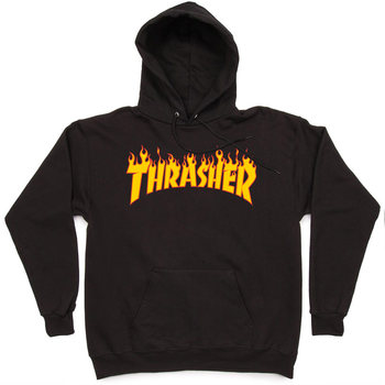 Толстовка Thrasher Black Fire Hood