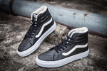 Vans Sk8 Hi Leather Black non Zip (с мехом) фото 5