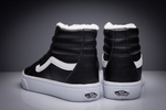 Vans Sk8 Hi Leather Black non Zip (с мехом) фото 14