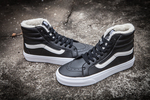 Vans Sk8 Hi Leather Black non Zip (с мехом) фото 3
