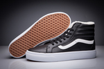 Vans Sk8 Hi Leather Black non Zip (с мехом) фото 10