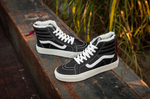 Vans Sk8 Hi Leather Winter Black (c мехом) фото 8