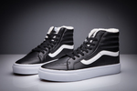 Vans Sk8 Hi Leather Black non Zip (с мехом) фото 9