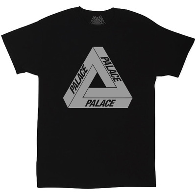 Футболка Palace Black with Reflective Triangle