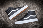 Vans Sk8 Hi Leather Black non Zip (с мехом) фото 4