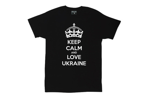 Футболка KEEP CALM and LOVE UKRAINE Black