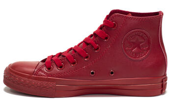 Converse All Star High Leather Red Monochrome