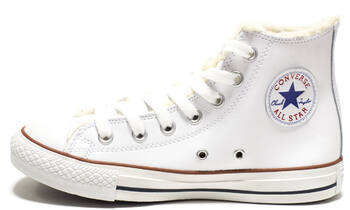 Converse All Star High Leather Winter White