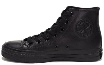 Уцененные Converse All Star High Leather Black Monochrome