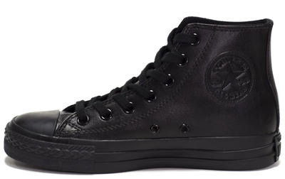 Converse All Star High Leather Black Monochrome